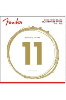 FENDER 80/20 DURA-TONE COATED ACOUSTIC GUITAR STRINGS 011