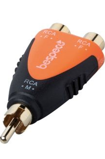 BESPECO SLAD355 CONNETTORE DUE RCA FEMMINA / RCA MASCHIO
