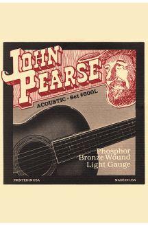 JOHN PEARSE 600L PHOSPHOR BRONZE CORDIERA PER CHITARRA ACUSTICA 0.12 0.53