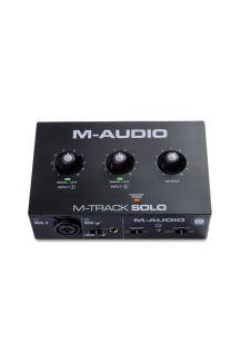 M-AUDIO M-TRACK SOLO INTERFACCIA AUDIO CON MONITORAGGIO DIRETTO E CONNESSIONE CUFFIE