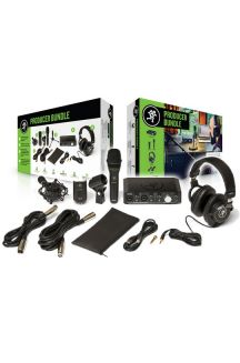 MACKIE PRODUCER BUNDLE KIT CON INTERFACCIA AUDIO, MICROFONO A CONDENSATORE, MICROFONO DINAMICO, CUFFIA