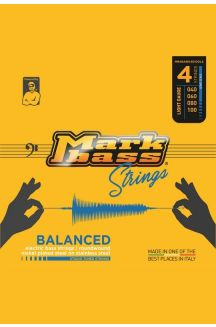 MARKBASS BALANCED ELECTRIC BASS NICKEL PLATED STEEL ON STAINLESS STEEL STUDIO TUNED STRINGS 040 060 080 100