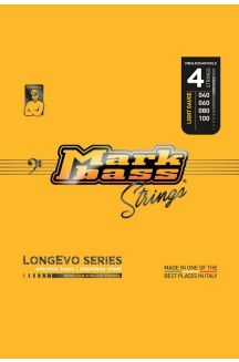MARKBASS CORDIERA PER BASSO 4 CORDE LONGEVO SERIES STAINLESS STEEL NANO-FILM SHIELDED STRINGS LONG LIVED 040 060 080 100