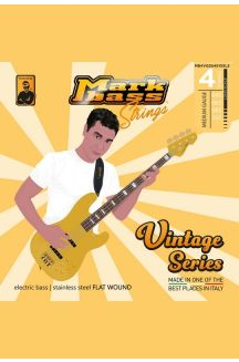 MARKBASS VINTAGE SERIES ELECTRIC BASS STAINLESS STEEL FLAT WOUND 045 065 085 105