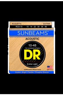 DR RCA-10 SUNBEAM CORDIERA PER CHITARRA ACUSTICA 0.10/0.48