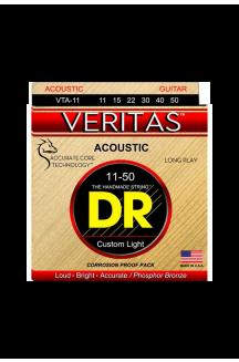 DR VTA-11 VERITAS CORDIERA PER CHITARRA ACUSTICA 0.11/0.50