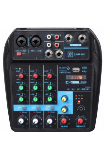 MIXER DIGITALE 4 CANALI CON USB E BLUETOOTH Q MINI