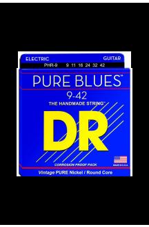 DR PHR-09 PURE BLUES CORDIERA PER CHITARRA ELETTRICA 0.09/0.42